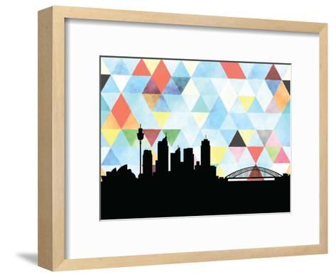 Sydney Triangle--Framed Art Print