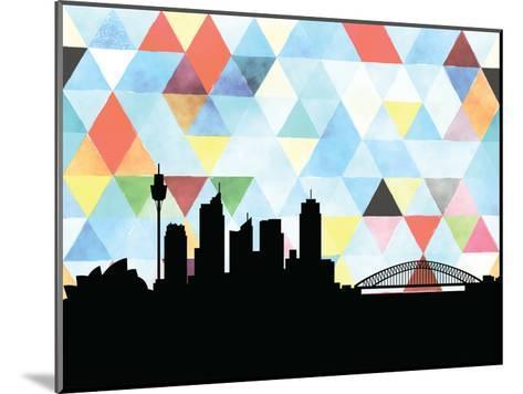 Sydney Triangle--Mounted Art Print