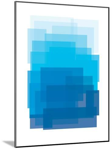 Blue Ombre-Ashlee Rae-Mounted Art Print