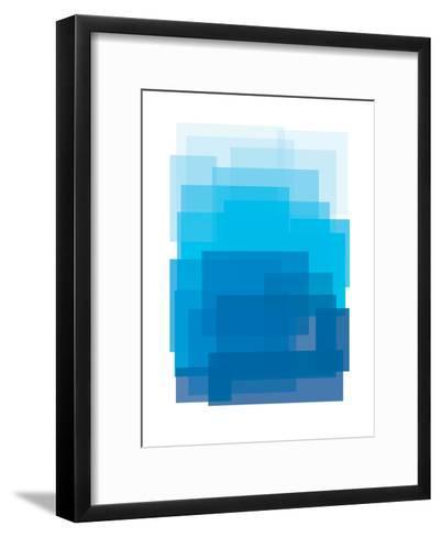 Blue Ombre-Ashlee Rae-Framed Art Print