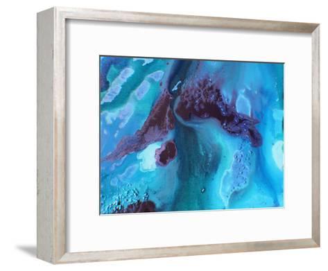 Dark Marble 2-Deb McNaughton-Framed Art Print