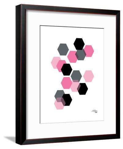 Geometric Hexagon-Ashlee Rae-Framed Art Print