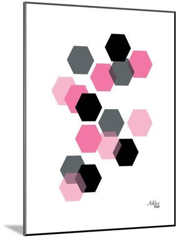 Geometric Hexagon-Ashlee Rae-Mounted Art Print