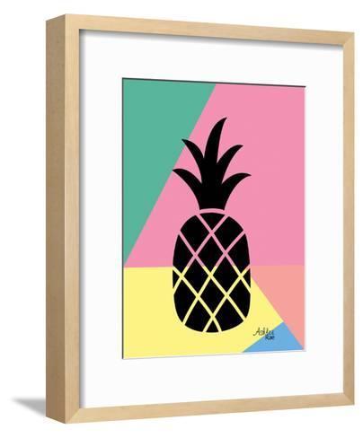 Geometric Pineapple-Ashlee Rae-Framed Art Print