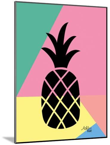 Geometric Pineapple-Ashlee Rae-Mounted Art Print