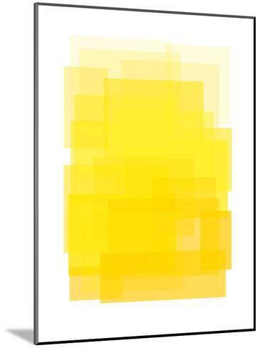 Yellow Ombre-Ashlee Rae-Mounted Art Print