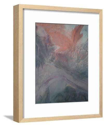 Grey Highlighed by Purple-Deb McNaughton-Framed Art Print