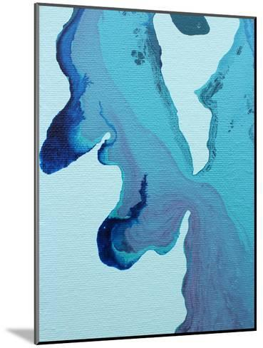 Stained Blue-Deb McNaughton-Mounted Art Print