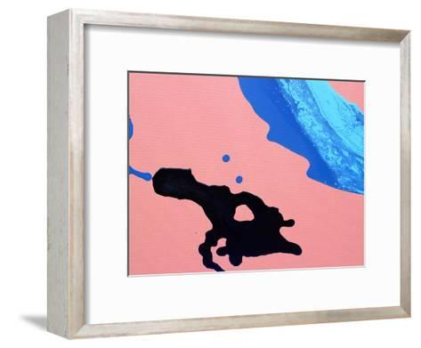 Peach & Black-Deb McNaughton-Framed Art Print