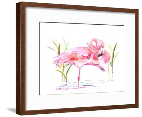 Flamingo-Suren Nersisyan-Framed Art Print