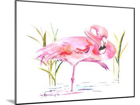 Flamingo-Suren Nersisyan-Mounted Art Print