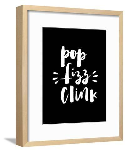 Pop Clink Fizz Blk-Brett Wilson-Framed Art Print