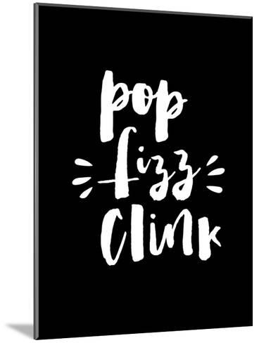 Pop Clink Fizz Blk-Brett Wilson-Mounted Art Print