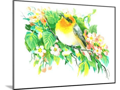 Songbird, Warbler-Suren Nersisyan-Mounted Art Print