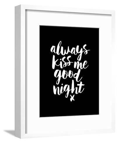 Always Kiss Me Goodnight Blk-Brett Wilson-Framed Art Print