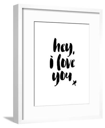 Hey I Love You-Brett Wilson-Framed Art Print