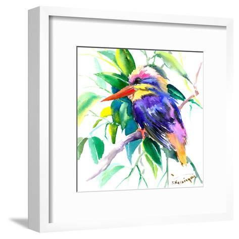 Oriental Kingficher2-Suren Nersisyan-Framed Art Print