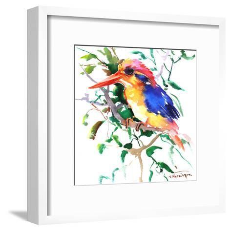 Oriental Kingfisher-Suren Nersisyan-Framed Art Print
