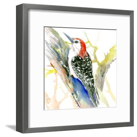 Red Bellied Woodpecker-Suren Nersisyan-Framed Art Print