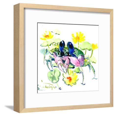 Baby Crab Blue Eyes-Suren Nersisyan-Framed Art Print