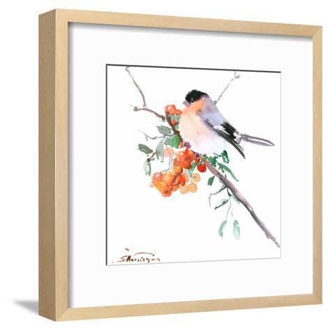 Bullfinch-Suren Nersisyan-Framed Art Print