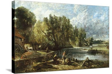 The Young Waltonians - Stratford Mill-John Constable-Stretched Canvas Print