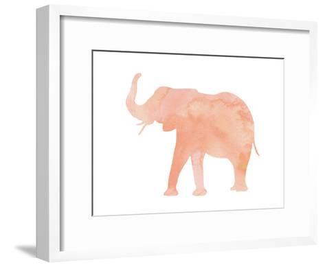 Coral Elephant Art Print by Peach & Gold   Art.com