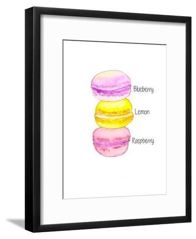 Macarons Txt- Alison B Illustrations-Framed Art Print