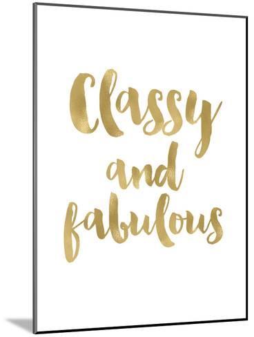Classy Fabulous Gold White-Amy Brinkman-Mounted Art Print