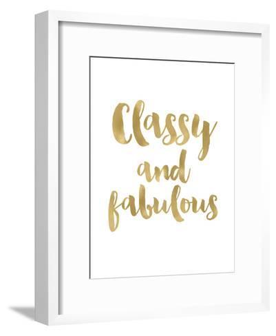 Classy Fabulous Gold White-Amy Brinkman-Framed Art Print