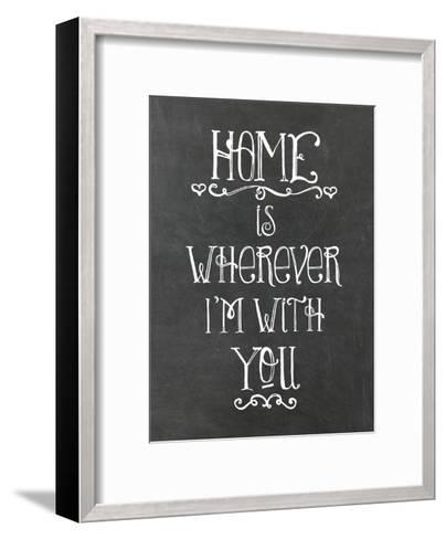 Home Is Wherever Chalkboard-Amy Brinkman-Framed Art Print