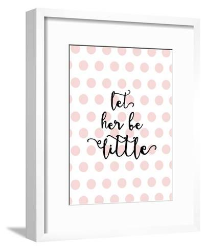 Let Her Be Little Polkadots Pink-Amy Brinkman-Framed Art Print