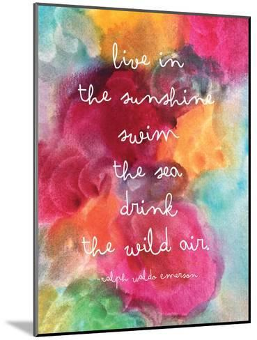 Live In The Sunshine Watercolor-Amy Brinkman-Mounted Art Print