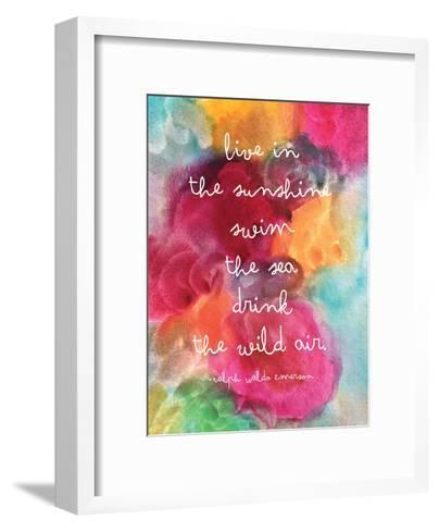 Live In The Sunshine Watercolor-Amy Brinkman-Framed Art Print