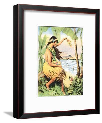 1915 Mid-Pacific Carnival - Honolulu, Hawai?i - Detail of Poster-Pacifica Island Art-Framed Art Print