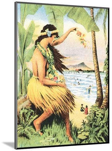 1915 Mid-Pacific Carnival - Honolulu, Hawai?i - Detail of Poster-Pacifica Island Art-Mounted Art Print