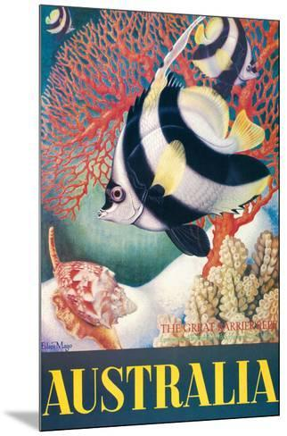 Australia - Great Barrier Reef-Eileen Mayo-Mounted Giclee Print