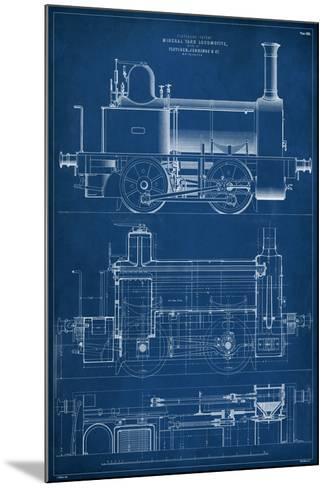Locomotive Blueprint II-Vision Studio-Mounted Giclee Print