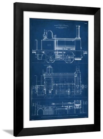 Locomotive Blueprint II-Vision Studio-Framed Art Print