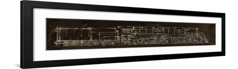 Locomotive Schematic-Ethan Harper-Framed Art Print
