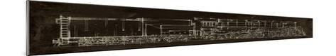 Locomotive Schematic-Ethan Harper-Mounted Giclee Print