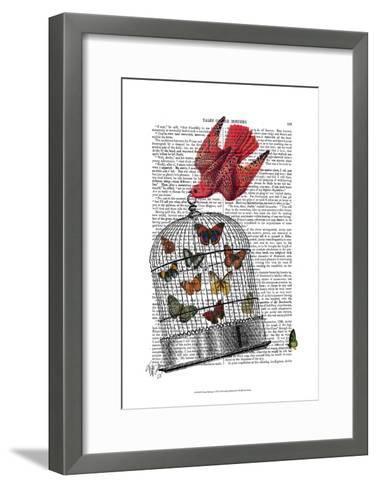 Flying Birdcage-Fab Funky-Framed Art Print