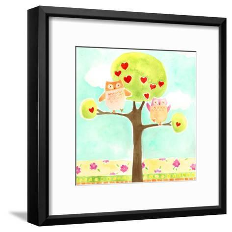 Hoots & Hearts I-June Vess-Framed Art Print