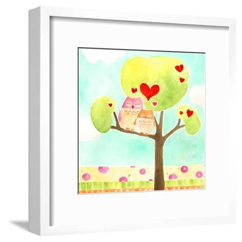 Hoots & Hearts II-June Vess-Framed Art Print