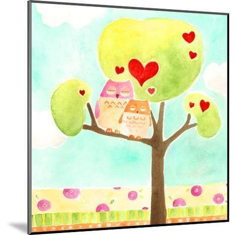 Hoots & Hearts II-June Vess-Mounted Art Print