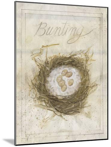 Nest - Bunting-Elissa Della-piana-Mounted Art Print