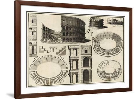 Diagram of the Colosseum-Unknown-Framed Art Print