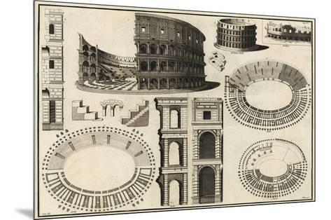 Diagram of the Colosseum-Unknown-Mounted Giclee Print