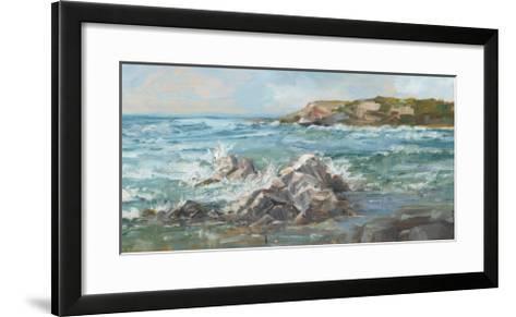 Impasto Ocean View II-Ethan Harper-Framed Art Print