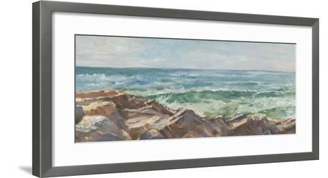 Impasto Ocean View III-Ethan Harper-Framed Art Print